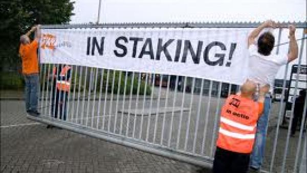 Personeel Feenstra Verwarming in Heerenveen legt werk neer