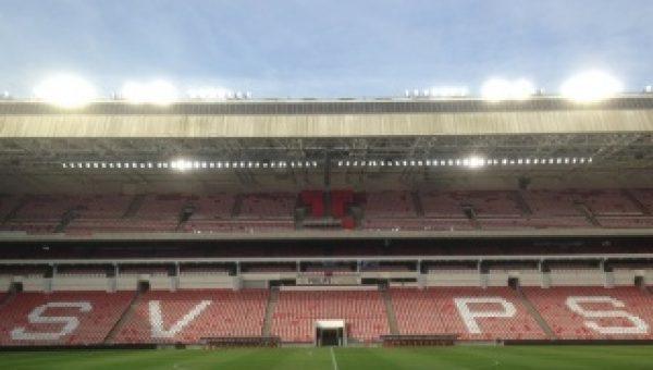 Innovatieve LED verlichting in stadion PSV