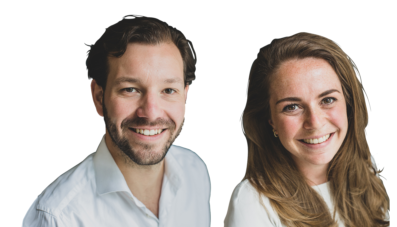 Rino Stevens, commercial en product manager en Mirjam Vis, operations development manager