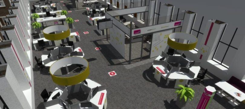 bv3 projectsupport visualiseert 'anderhalve meter werkplek'