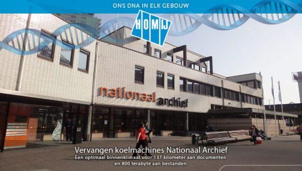 Homij: Oplevering koelmachines Nationaal Archief Den Haag