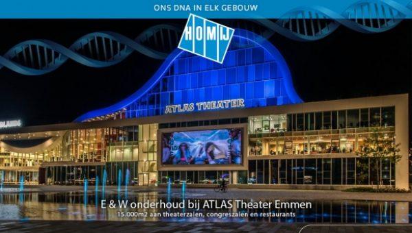 HOMIJ krijgt onderhoudsopdracht ATLAS Theater Emmen gegund