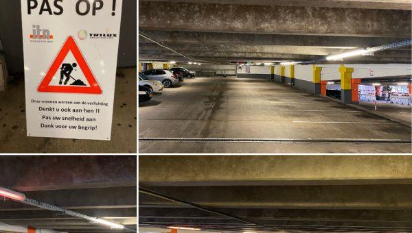 Vervanging verlichting parkeergarage Musis Arnhem