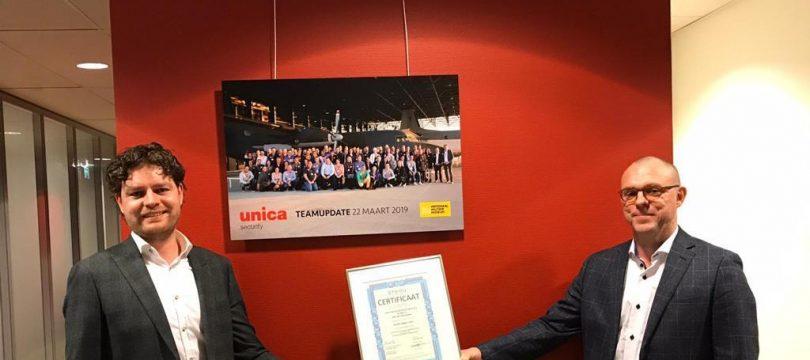 ISO-20000 certificaat voor Unica Special Security Projects