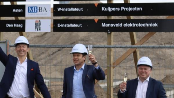 Mansveld Elektrotechniek start de bouw van nieuw designcenter Brabantia in Valkenswaard